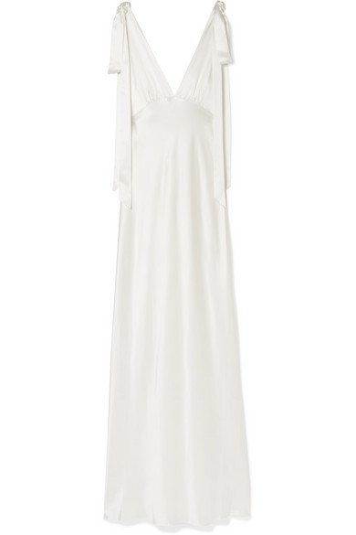 Les Rêveries Silk-charmeuse Gown In Ivory