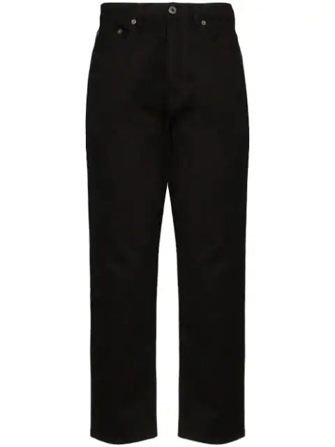 Valentino Vltnstar Cropped Straight-leg Jeans In Black