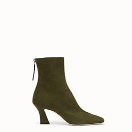 Fendi Ffreedom Square-toe Suede Boots In Green