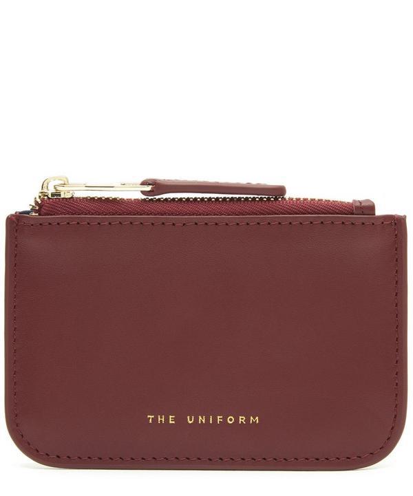 The Uniform Leather Zip Purse In Chianti