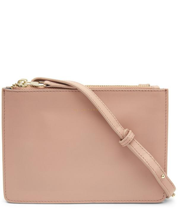 The Uniform Leather Duo Cross-body Bag In Cameo
