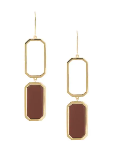 Julia Davidian Jasper Earrings In Gold