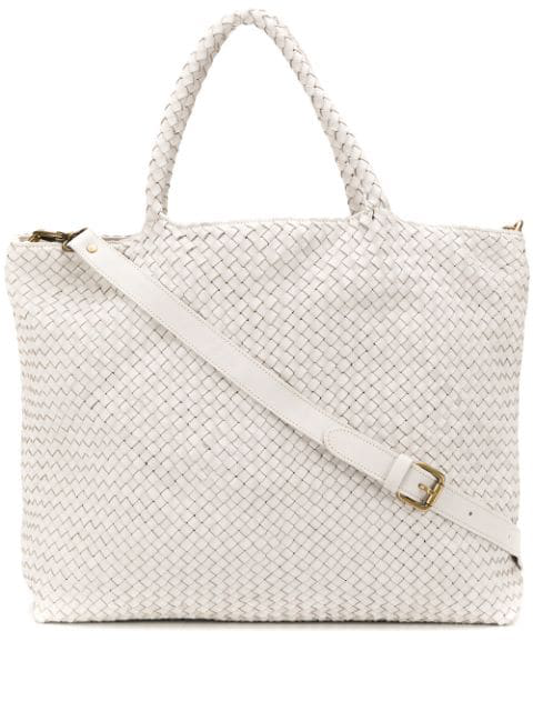 Officine Creative Oc Class 35 Woven Bag In White