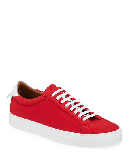 Givenchy Men's Urban Street Spandex Low-Top Sneakers In Red