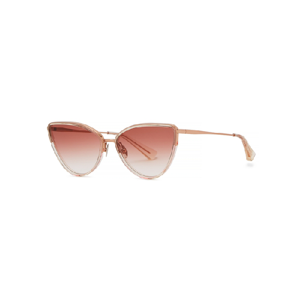 Christian Roth Sine-type Cat-eye Sunglasses In Red