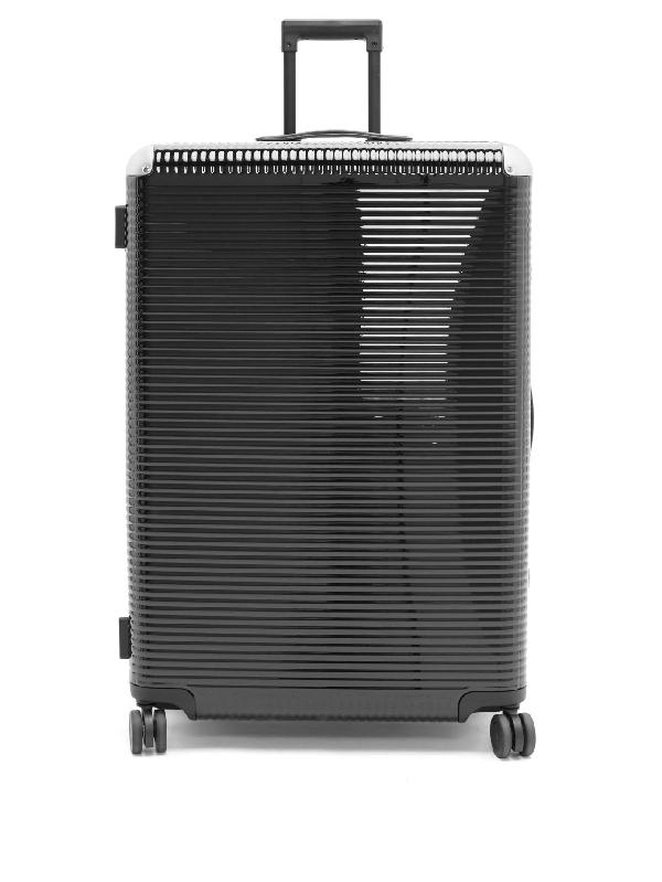 Fabbrica Pelletterie Milano Bank Light 82 Check-in Suitcase In Black