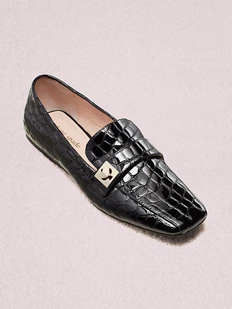 Kate Spade Darien Loafers In Black