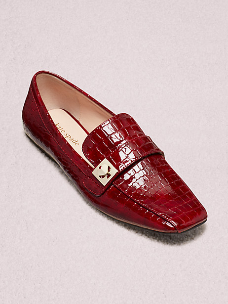 Kate Spade Darien Loafers In Cherrywood