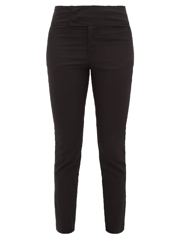 Isabel Marant Ovida Slit-cuff Cotton-blend Trousers In Black