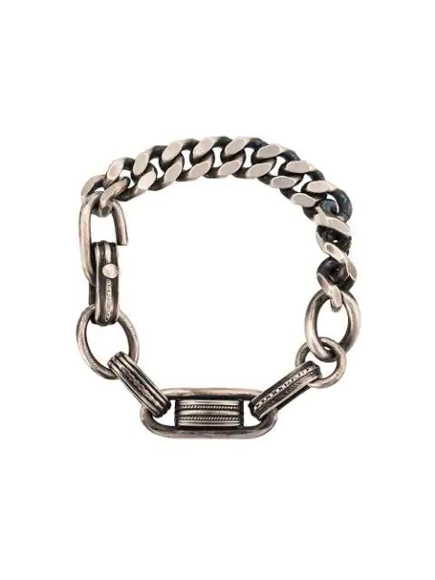 Werkstatt:münchen Armband Im Gliederdesign In Silver