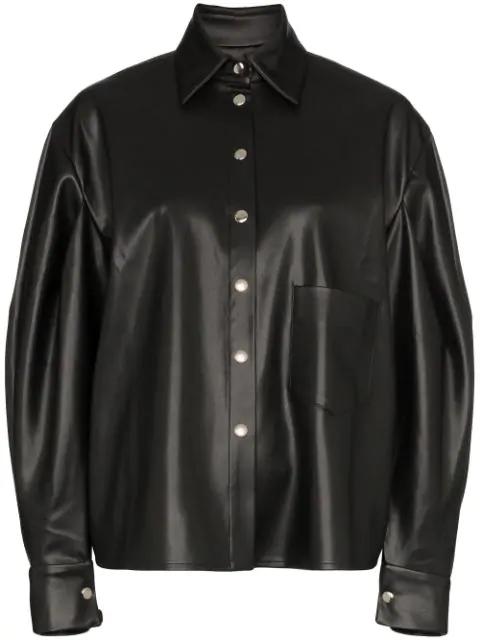 Anouki Balloon-sleeve Shirt In Black
