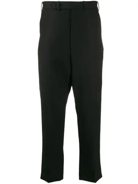 Haider Ackermann Drop-Crotch Cropped Trousers In Black
