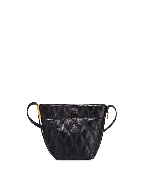 Quilted Leather Mini Bucket Bag In Black by Givenchy