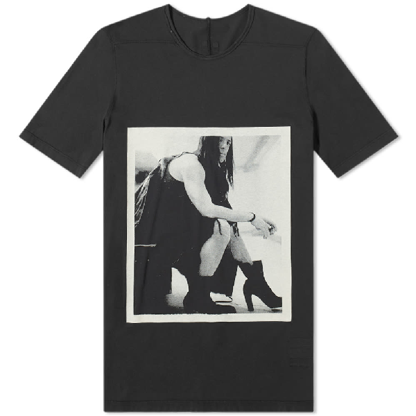Rick Owens Drkshdw Printed Cotton Jersey T-shirt In Black