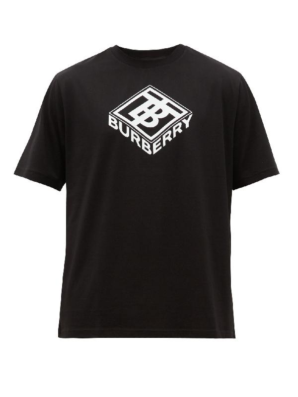 Burberry Ellison Logo-print Cotton-jersey T-shirt In White