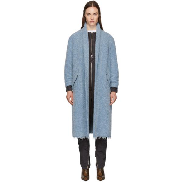Etoile Isabel Marant Isabel Marant Etoile Blue Boucle Faby Coat In 30bu Blue