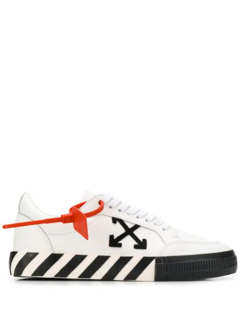Off-White Suede-Trimmed Printed Canvas Sneakers - White