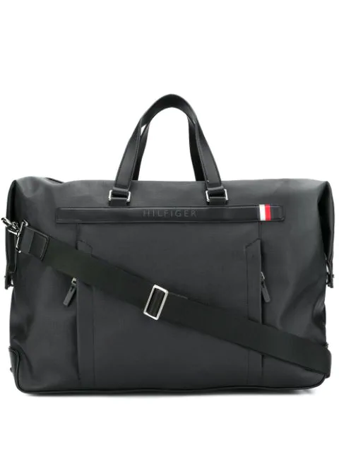 Tommy Hilfiger Structured Zip-up Holdall In Black