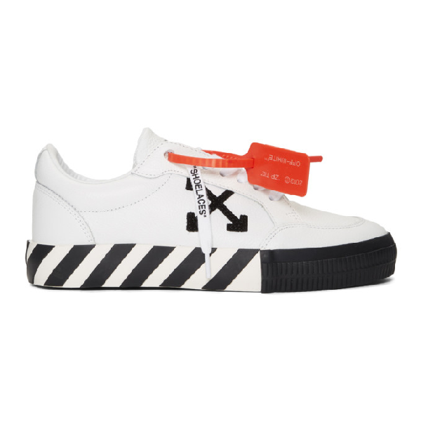 Off-white Men's Vulcanized Low-top Sneakers, White/black