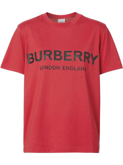 Burberry Dovey Logo Graphic Femme-fit Tee In Bright Red
