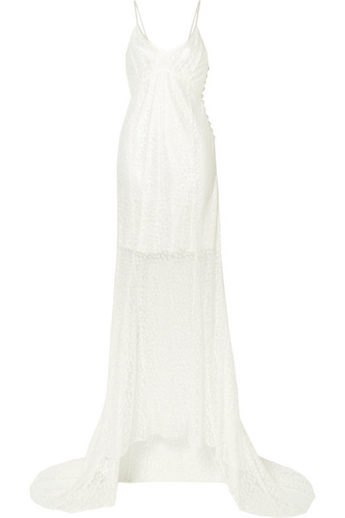 Les Rêveries Lace Gown In Ivory