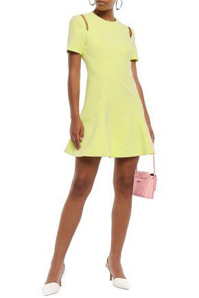 Cinq À Sept Woman Cutout Crepe Mini Dress Chartreuse