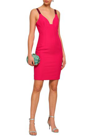 Cinq À Sept Woman Stretch-crepe Mini Dress Bright Pink