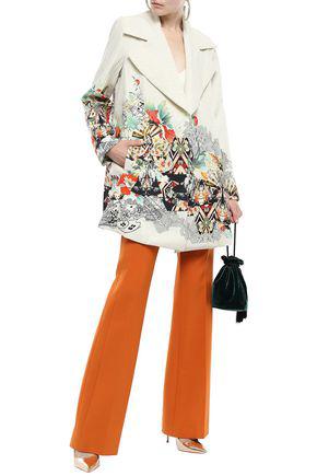 Camilla Woman Love Spells Printed Wool Coat Ecru