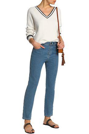 ChloÉ Woman High-rise Slim-leg Jeans Mid Denim