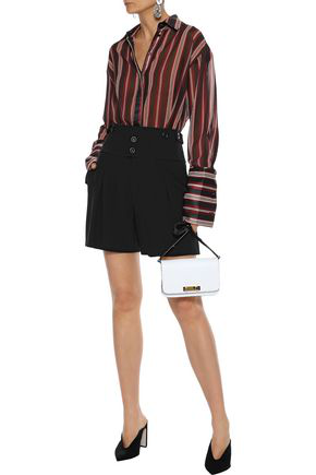 ChloÉ Crepe-twill Shorts In Black