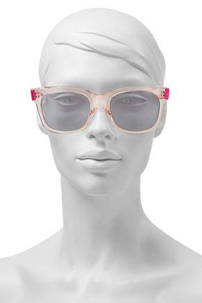 Christopher Kane Woman Square-frame Acetate Sunglasses Pastel Pink