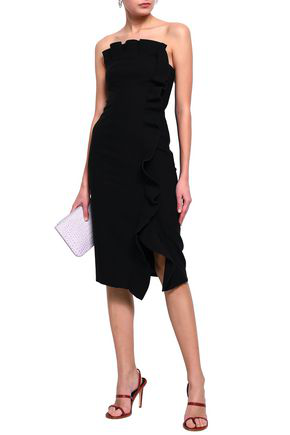 Cinq À Sept Woman Ruffled Crepe Dress Black