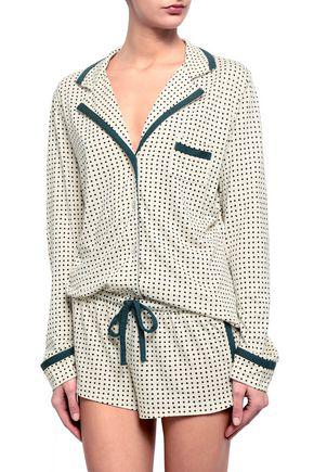 Cosabella Woman Printed Pima Cotton And Modal-blend Jersey Pajama Set Ivory