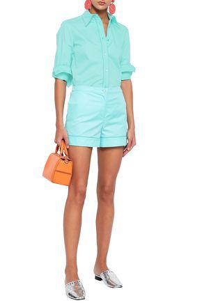 Emilio Pucci Woman Cotton-poplin Shirt Turquoise