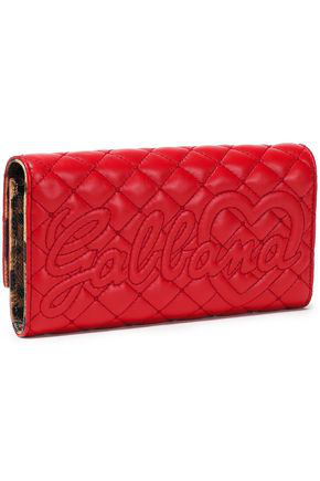 Dolce & Gabbana Woman Quilted Leather Continental Wallet Red