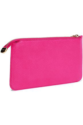Dolce & Gabbana Woman Pebbled-leather Clutch Bright Pink