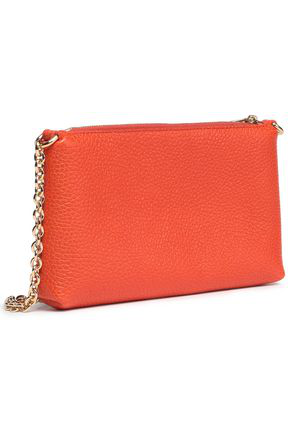 Dolce & Gabbana Woman Pebbled-leather Shoulder Bag Bright Orange