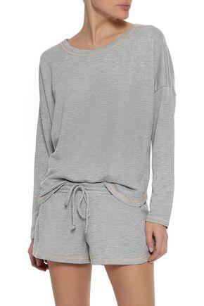 Eberjey Woman Gabriela The Runner French Cotton-terry Pajama Shorts Light Gray