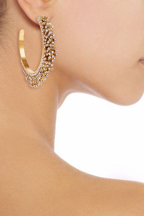 Elizabeth Cole Raven 24-karat In Gold