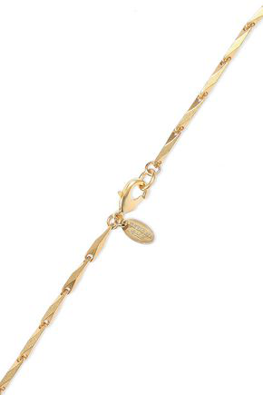 Elizabeth Cole Woman 24-karat Gold-plated Crystal, And Faux Pearl Necklace White