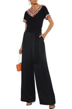 Emilio Pucci Woman Printed Silk-jersey T-shirt Black