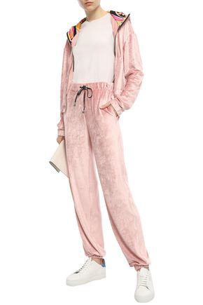 Emilio Pucci Chenille Track Pants In Blush