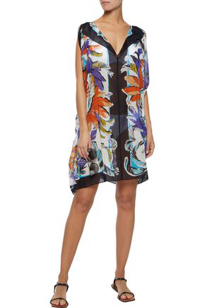 Emilio Pucci Woman Printed Cotton-gauze Coverup Black