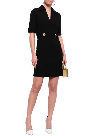 Emilio Pucci Woman Embellished Stretch-wool Mini Dress Black