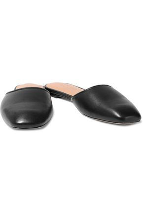 Halston Heritage Woman Bri Leather Slippers Black