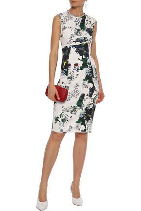 Erdem Maura Floral-print Neoprene Dress In White