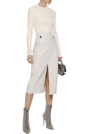 Helmut Lang Woman Jacquard-knit Top Ecru