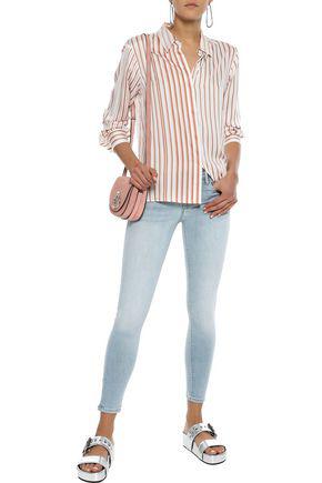 Frame Woman Le Skinny De Jeanne Cropped Low-rise Skinny Jeans Light Denim