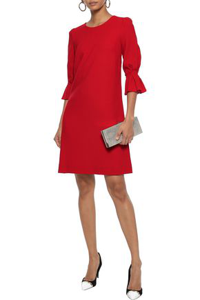 Goat Woman Gemma Wool-crepe Mini Dress Red