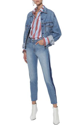 Iro Woman Carnac Cropped High-rise Skinny Jeans Light Denim